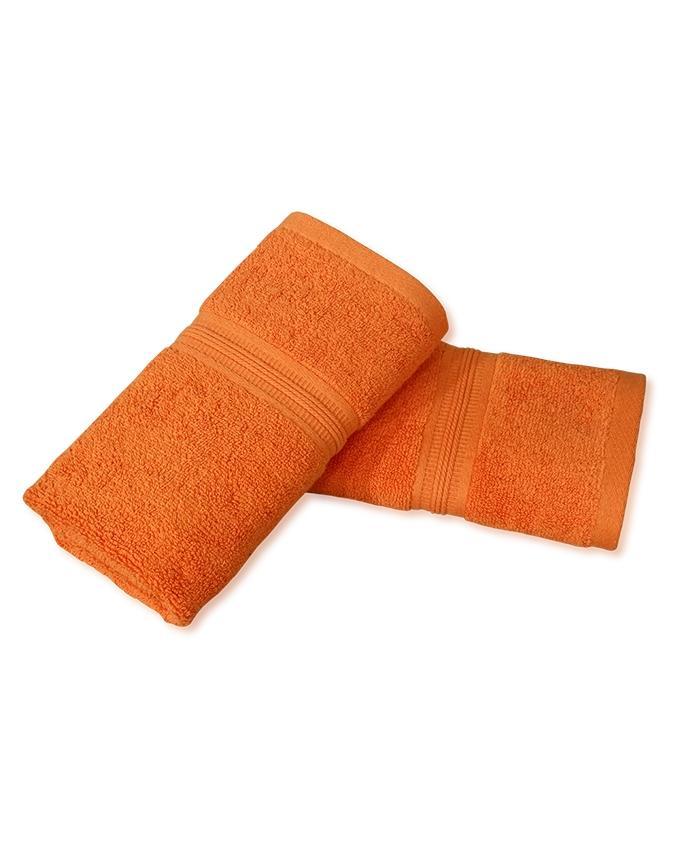 Pack of 2 - Hand Towels - Orange