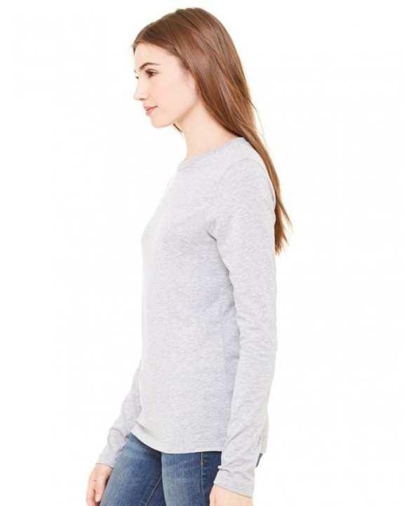 Heather Grey Cotton T-Shirt For Women