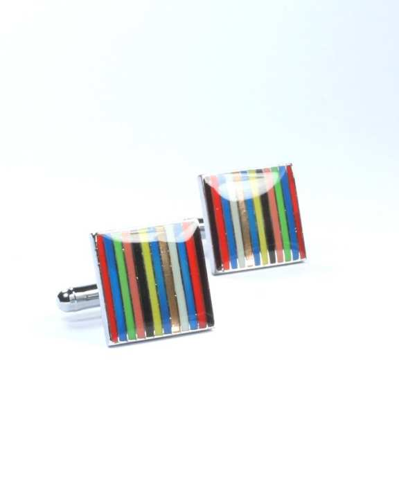 Multicolour Alloy Cufflinks for Men - CU-0154