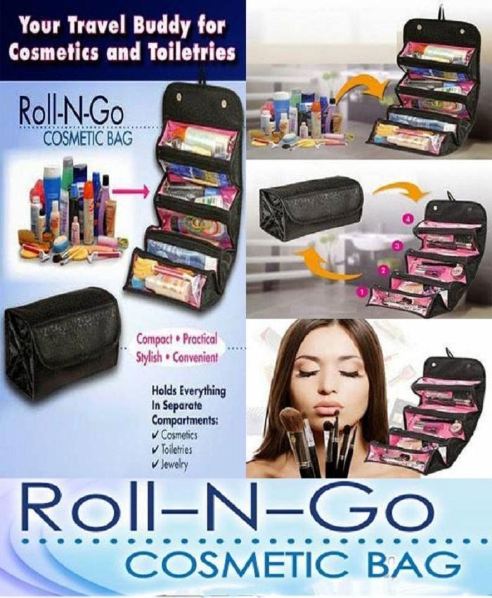 a1a7f9c788c8 Roll N Go Makeup Organizer & Cosmetic Bag -