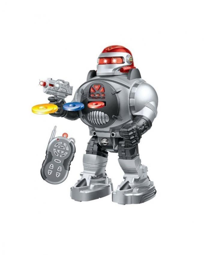 Space Fighter Robot - RC - Silver