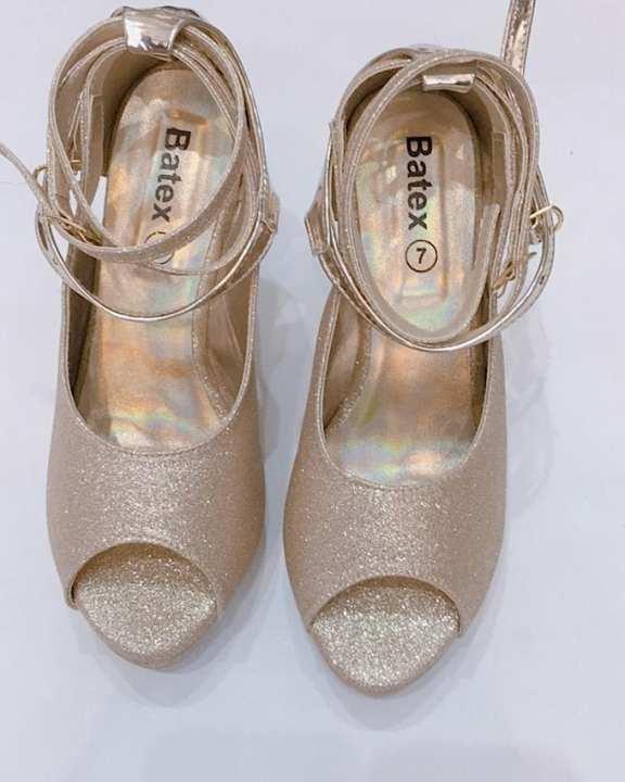 Sandle Golden Heel Glitter Material