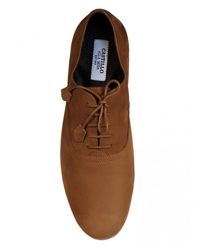 Cofee Nubuck Lace Up Ibog Shoes for Men