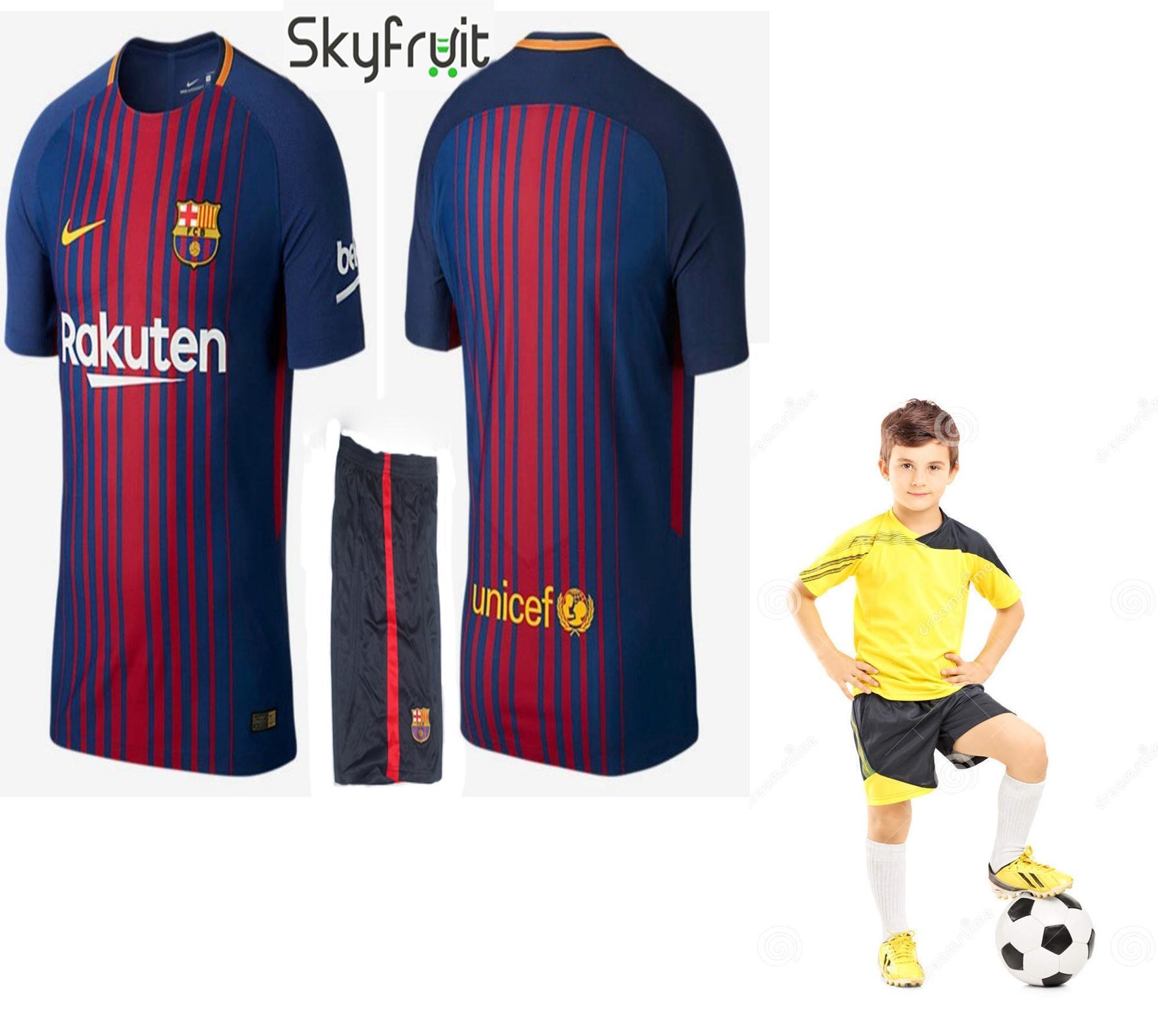 Junior Fc Barcelona Kids Messi Football Kit New 0a1277a428519