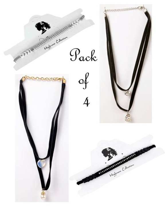 Pack of 4 - Delicately Interwined Choker