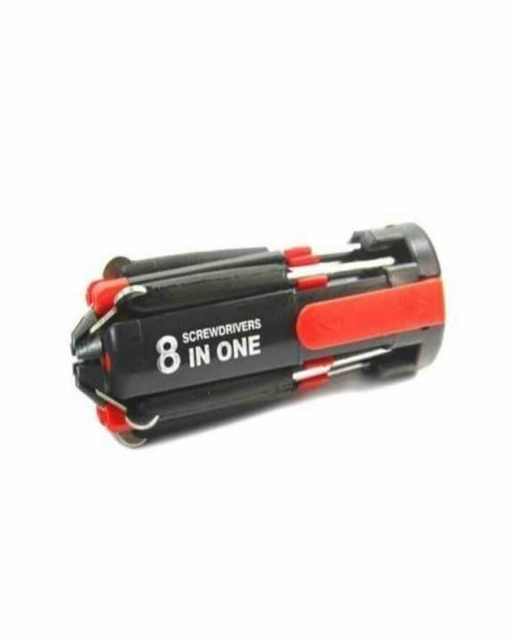 8 In 1 Screw Driver - Black & Red