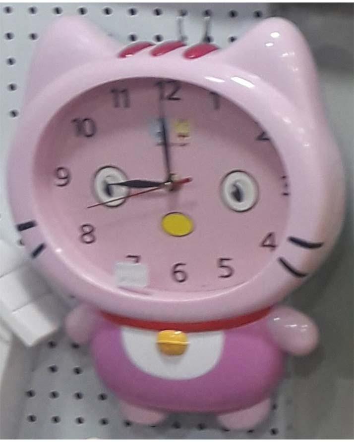 Doll Shape Analog Clock (Wall Clock) Kids Room Princess