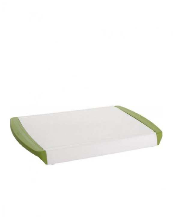 Chop & Clear Cutting Board - White & Green