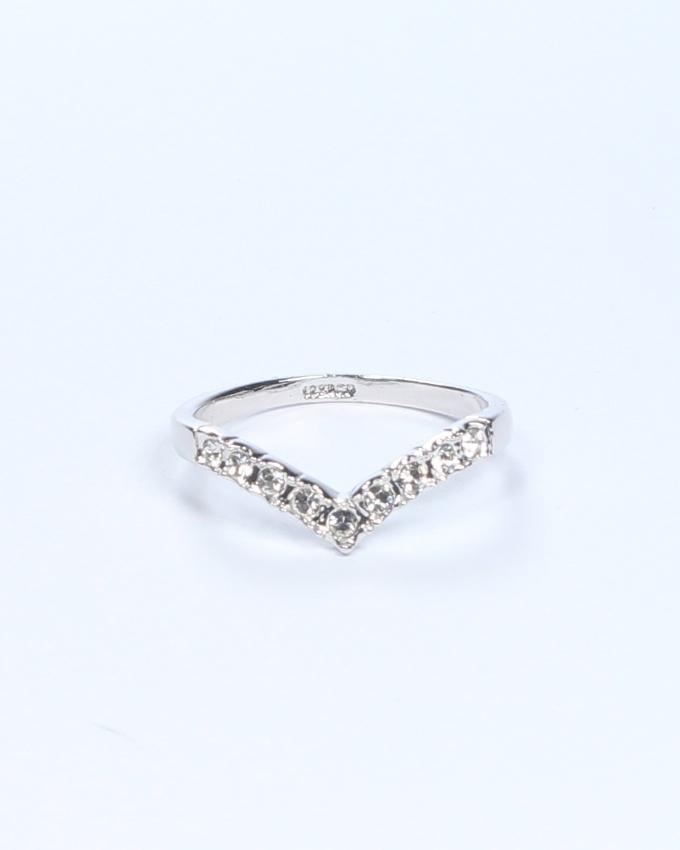Silver Platinum Plated on Alloy Ring for Women