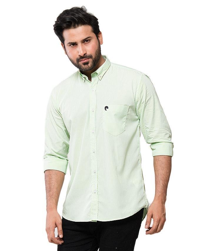 Green Cotton Shirt for Men - EPS 14