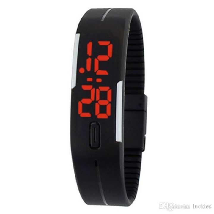 Owsum Rubber LED Bracelet Sports Watch for Men