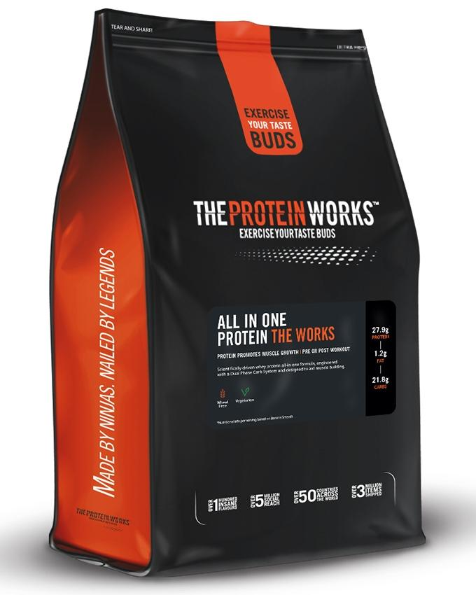 All-In-One Protein In The Work - 1 kg (2.2 lbs) - Chocolate Silk