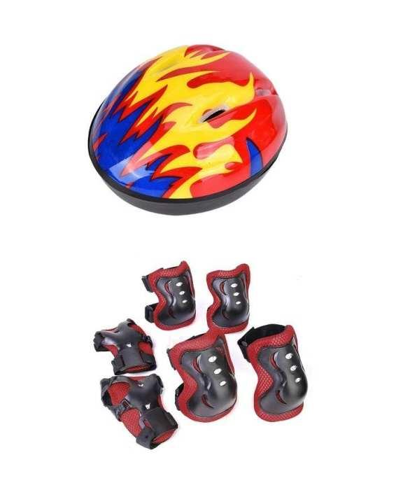 7pcs Kids Bike Helmet Safety Bicycle Helmet