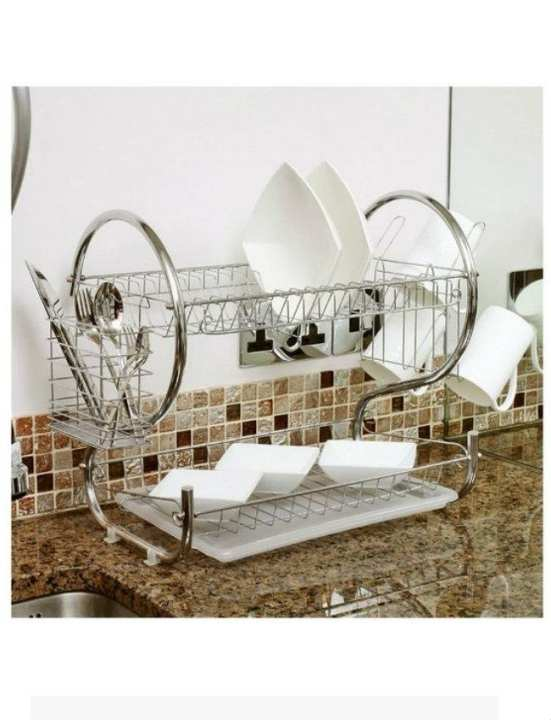 2-Layer Dish Rack Stand/ Plate Holder