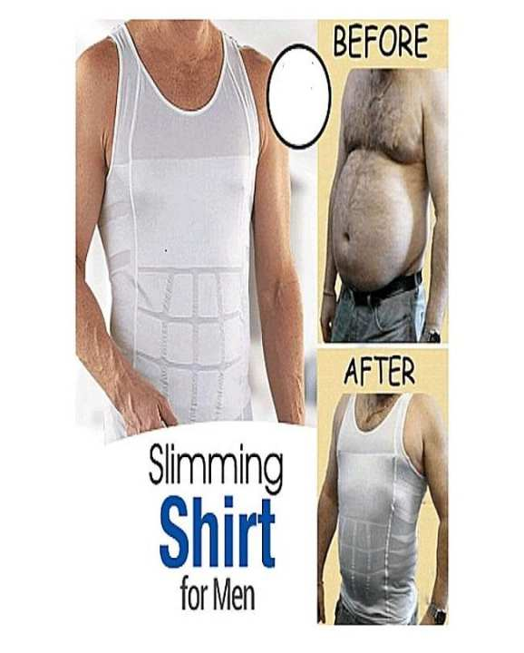 Pack Of 2 - White Cotton Slim N Lift Slimming Vest For Weight Loss