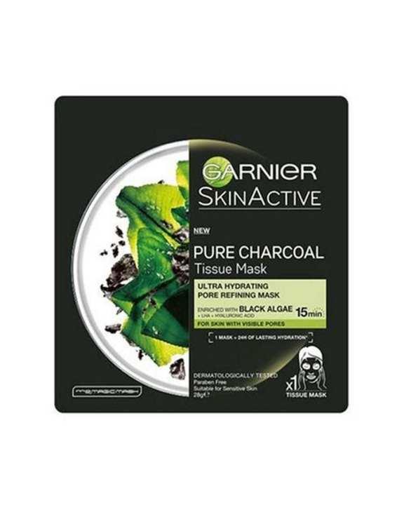 Pure Charcoal Black Algae Tissue Mask & Pore Tightening