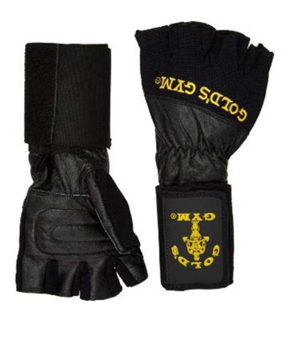 Golds Gym Wrist Wrap Lifting Gloves - Black