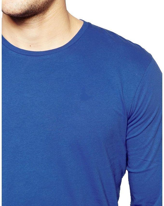 Royal Blue Cotton T-shirt for Men