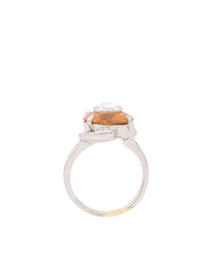 Champagne signity style ring