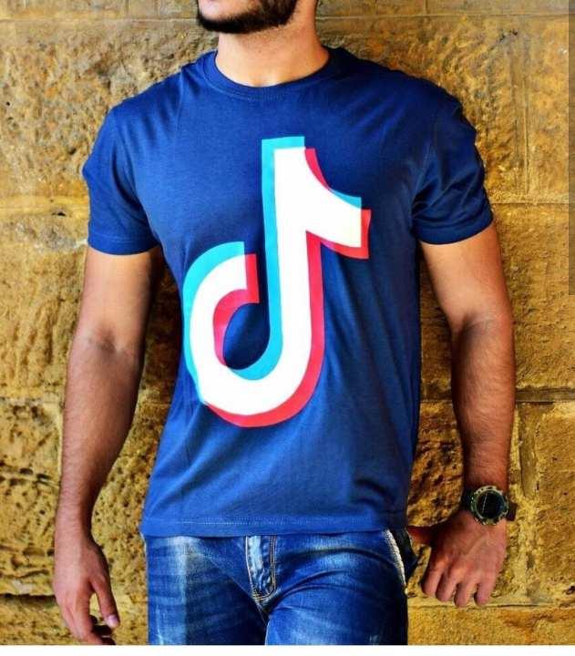 Royal Blue TikTok Logo Printed T-shirt For Men