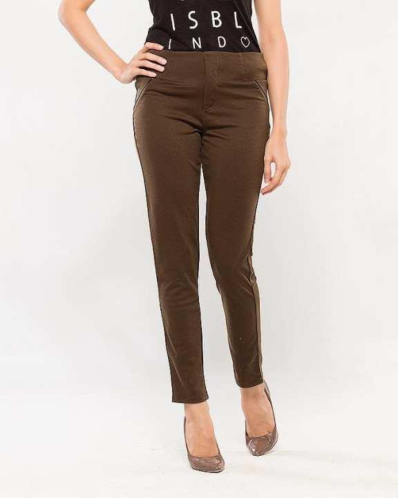 Dark Brown Formal Pants For Women
