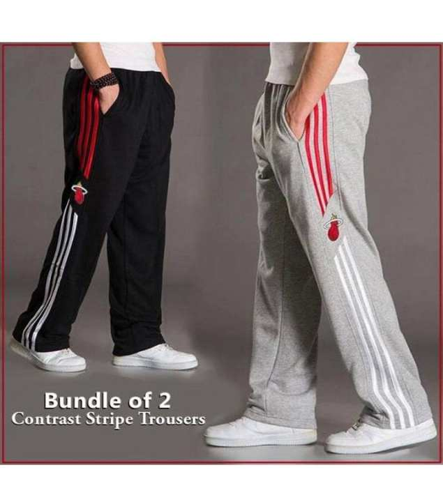 A&G-Bundle Of 2 Contrast Strips Trouser
