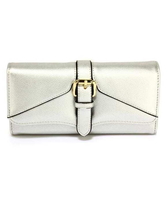 Silver Buckle Detail Purse/Wallet