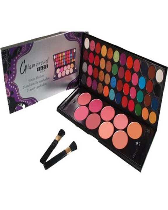 Glamorous Face Eye Shadow Palette & Blush On Make Up Kit