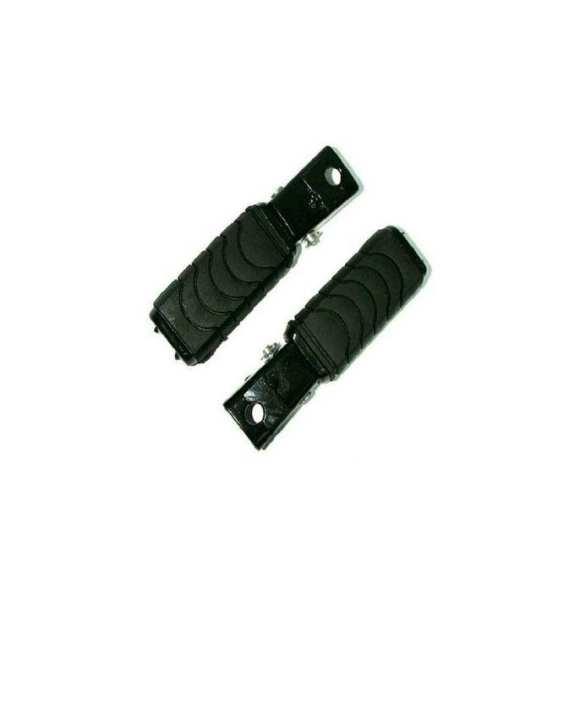 Pair of Universal motorcycle bike Foot Rest cd70cc/cd70/cd 70 - Black