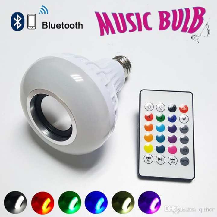 Remote Control Music Light Bulb Led Light Bulb 12 Watts With Bluetooth Speaker