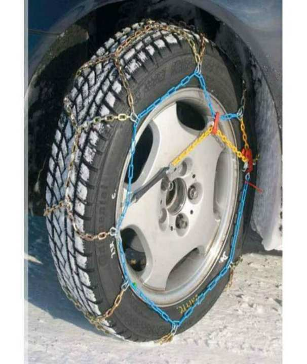 Snow Chains Portable Emergency Anti-Slip Chains Link Ladder Alloy Tire Chains with Tensioners