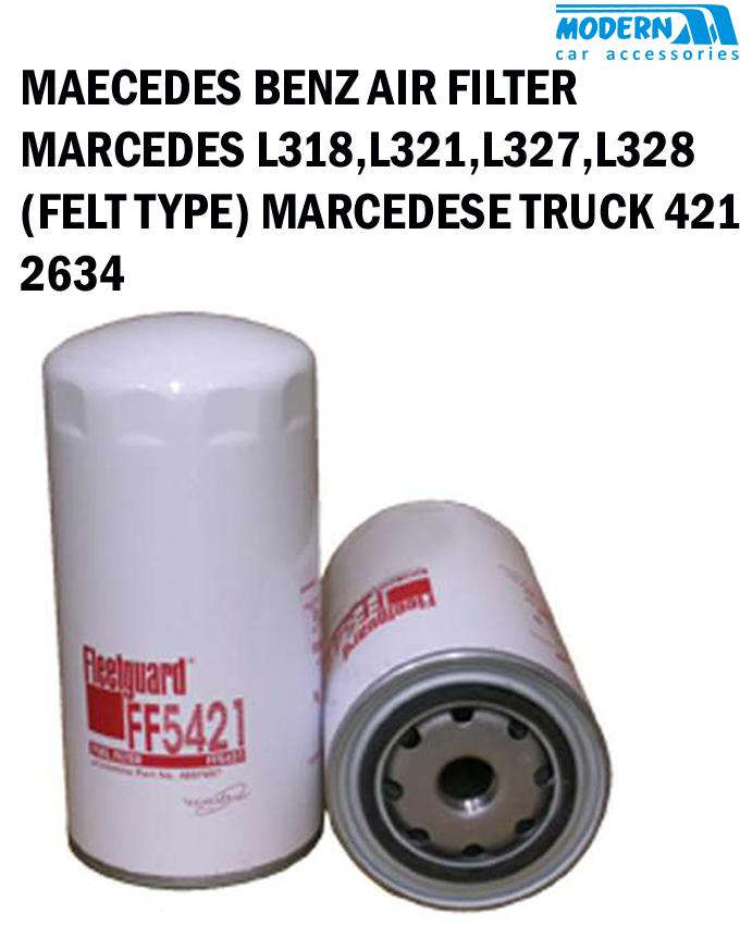 fuel filter, mercedes l318, l321, l327, l326, (felt type)