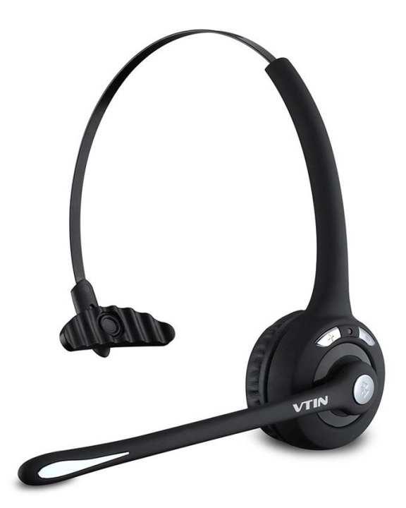 BTH-068 - Professional Wireless Bluetooth Headband Headset - Black