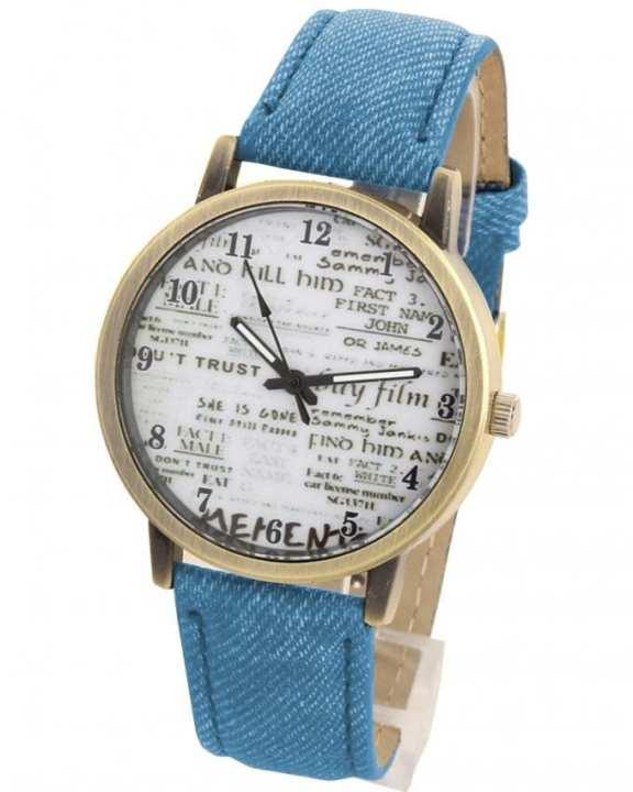Blue Denim Analog Watch
