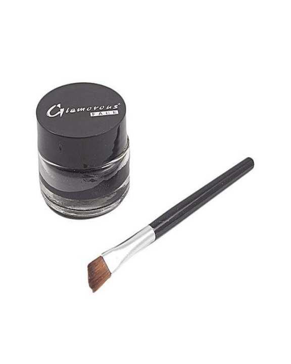 Glamorous Face Gel Eye Liner Water Proof + Liner Brush