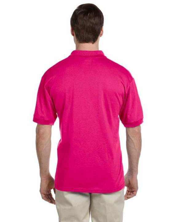 Pack Of 5 Dark Pink Polyester & Cotton Polo Shirt For Men