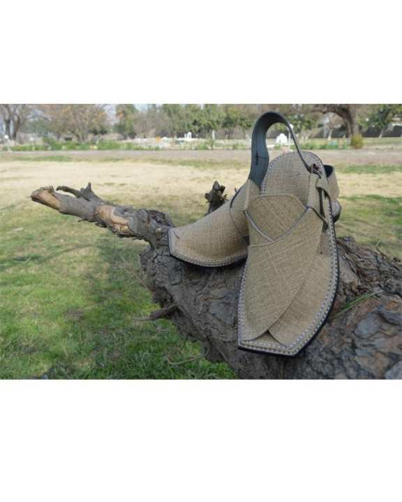 Peshawari Chappal Check Design Upper Touch