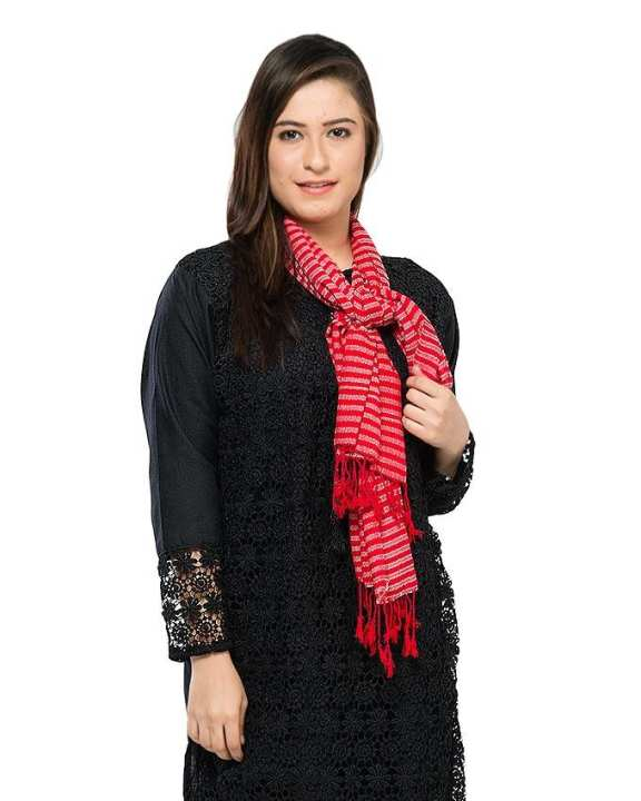 Red Wool Scarf for Women -SF0014