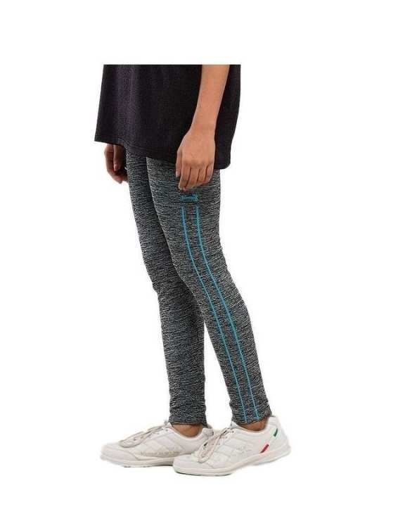 Womens Yoga Trousers - Gray & Blue Syc