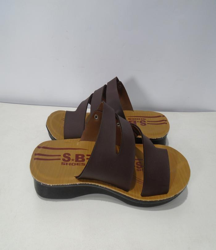 Brown Synthetic Sleeper For Men- 317-50462
