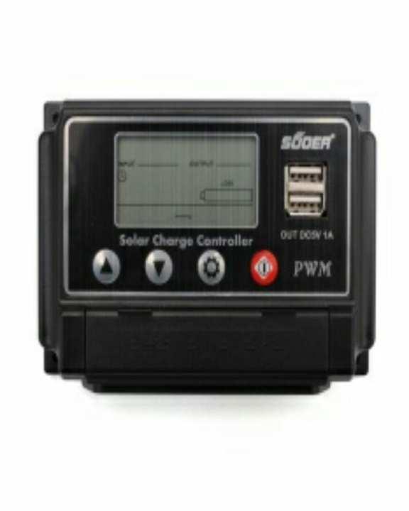 Solar Charge Controler-Suoer-10A-Black-12V/24V Auto-Usb Out 5V 1A*2 Ports-Dc Loads-Stw1210