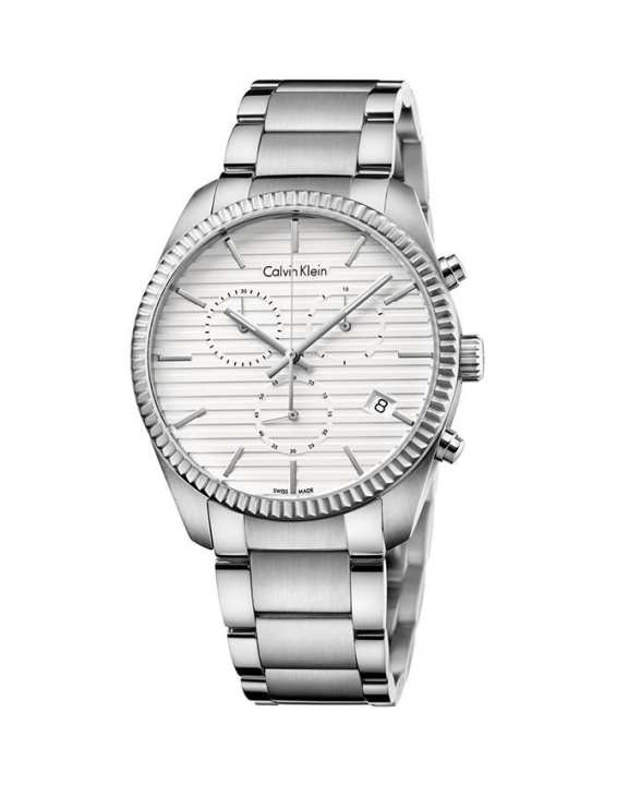 Calvin Klein K5R37146 - Alliance Watch for Men - White (Brand Warranty)
