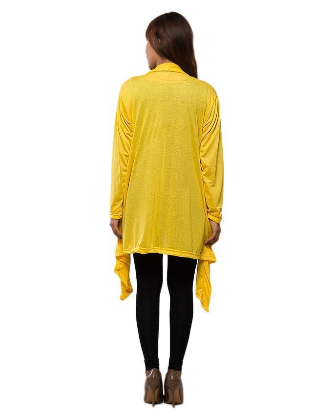 Yellow Jersey Shrug For Women