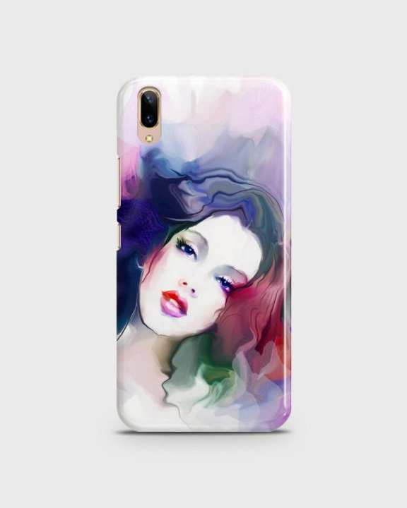 Cover For Vivo V11 Hard Girl Face Print -1cover2817