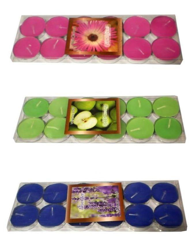 Scented Candles with Assorted Fragrances - Multi Color - 36 Pcs