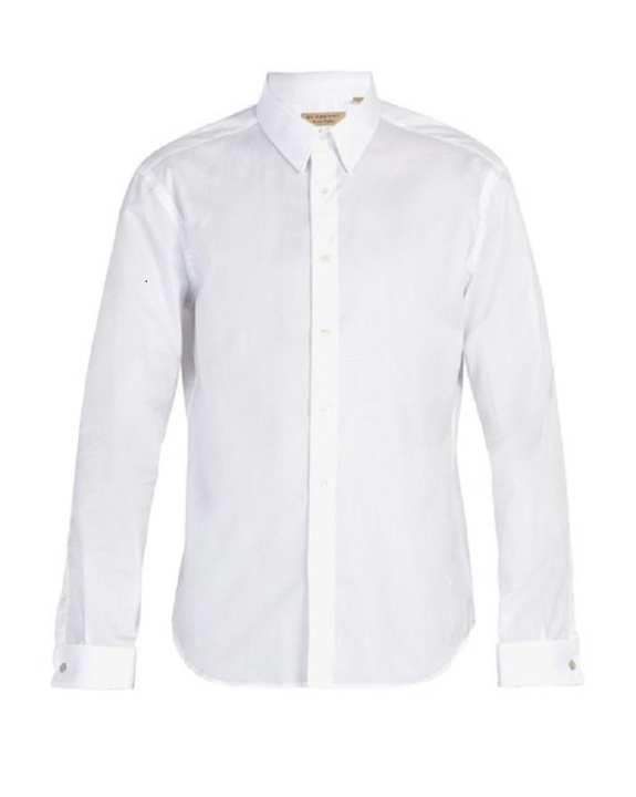 White Dress / Formal Shirt For Men Office Wear