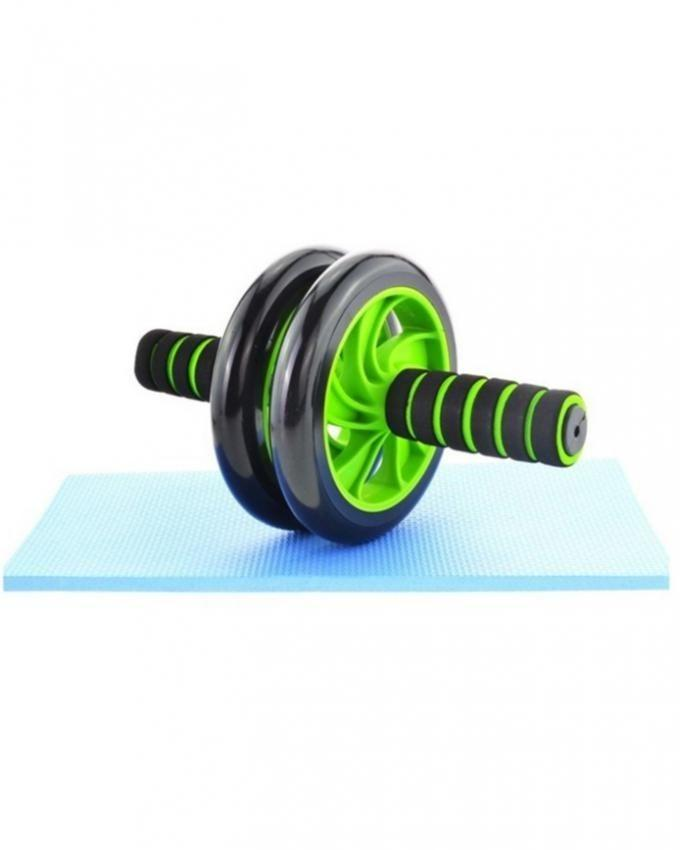 Two Wheeled Abdominal Roller - Green & Black - Small