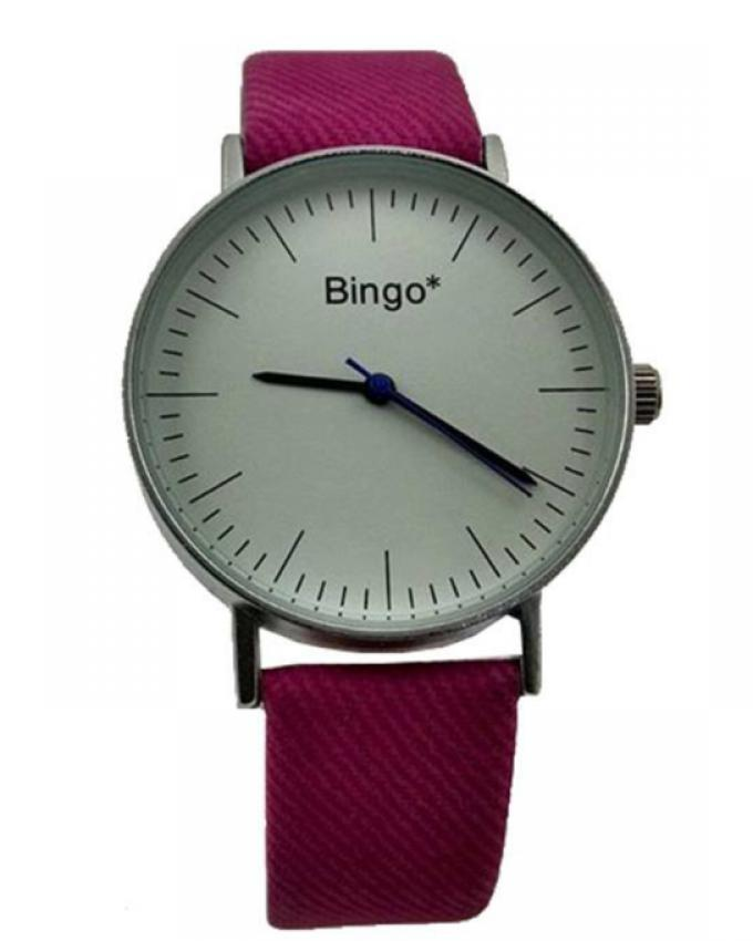 Leather Strap Watch For Women - Pink