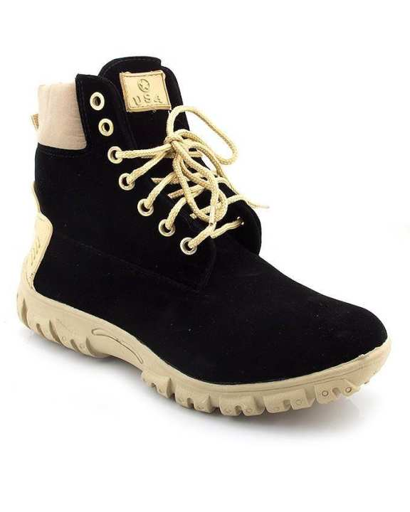 Black Suede Boots for Men - EP_1002