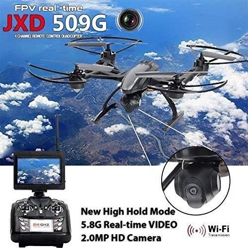 JXD 509G 5 8G FPV with 2 0MP HD Camera High Hold Mode Headless Mode One Key  Return RC Quadcopter Drone